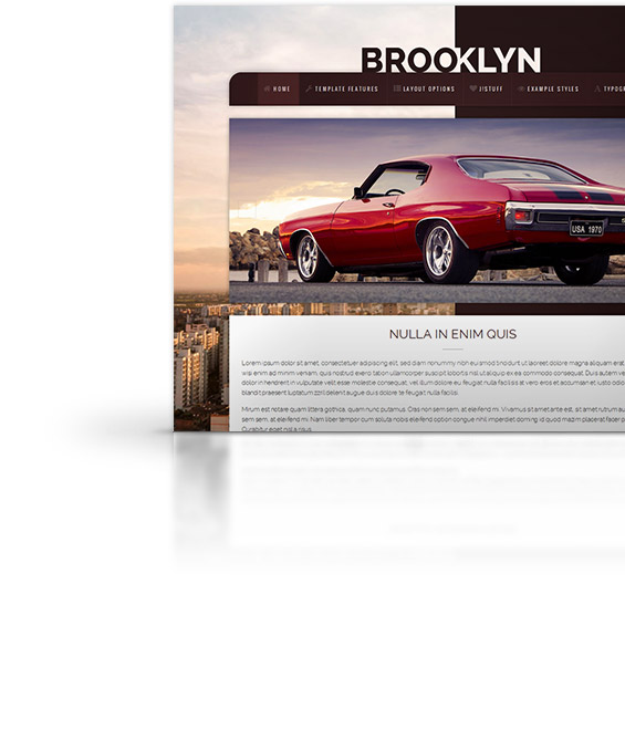 Brooklyn joomla template
