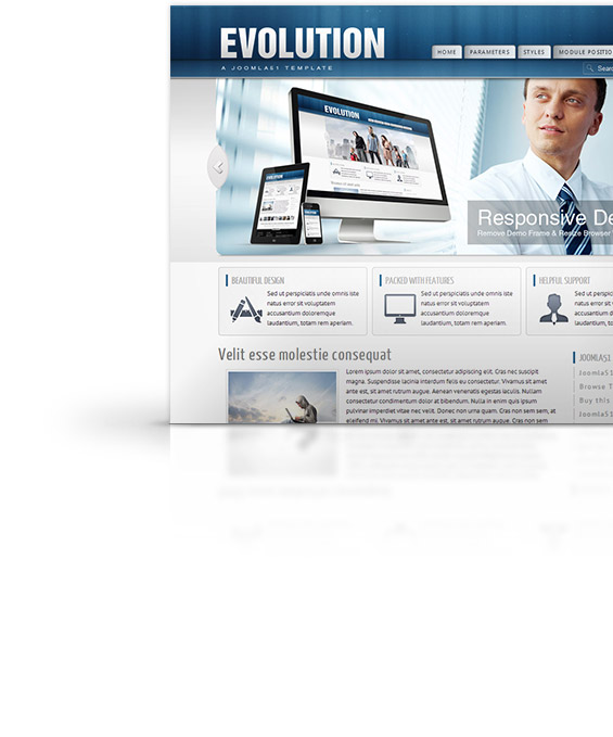 Evolution Joomla Template