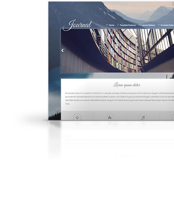 Journal Joomla Template