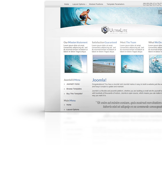 Ultralite Joomla Template