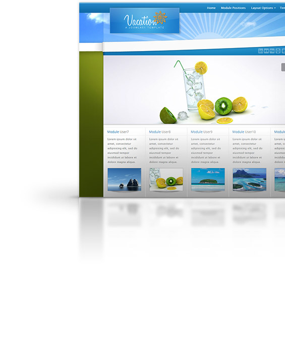 Vacation Joomla Template